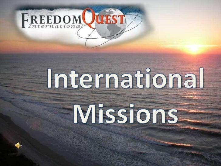 International<br />Missions<br />