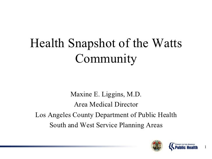 Obstacles to Health in South Los Angeles