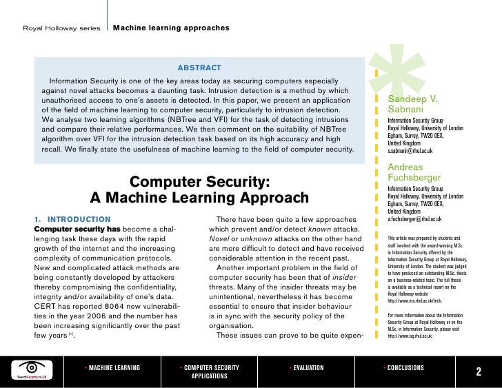 Master thesis computer security