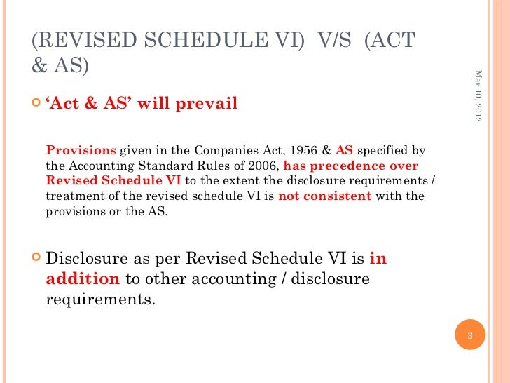 revised schedule vi As per revised schedule vi requirements related to depreciation accounting, each and every asset has to be depreciated at individual asset depreciation rates instead.