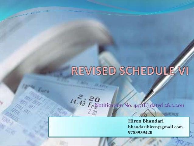 Notification No. 447(E) dated 28.2.2011              Hiren Bhandari              bhandarihiren@gmail.com              9783...