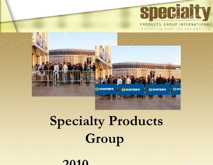 Revised Specialty Products Group Internat