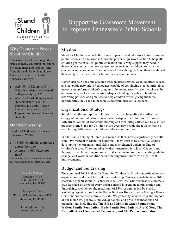 Revised tn one pager 1 8 11