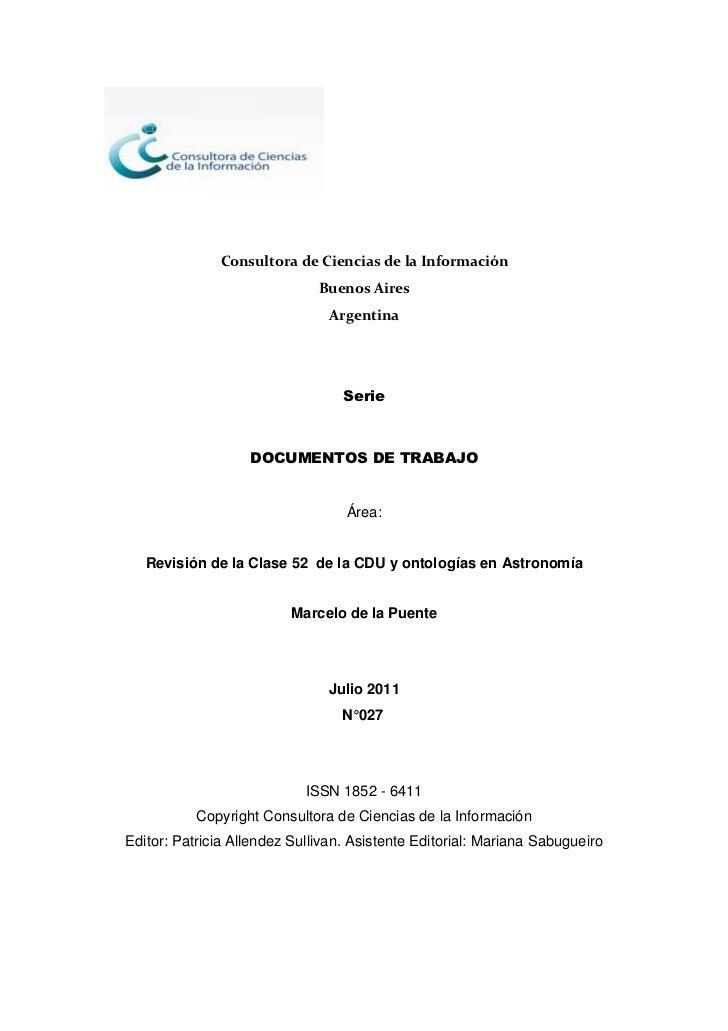 Consultora de Ciencias de la Información                              Buenos Aires                                Argentin...