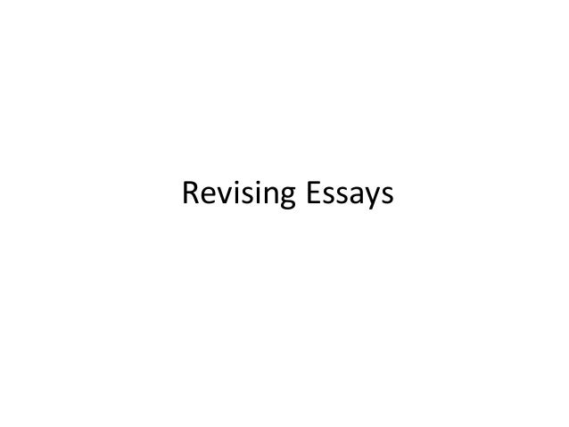 Revising an essay