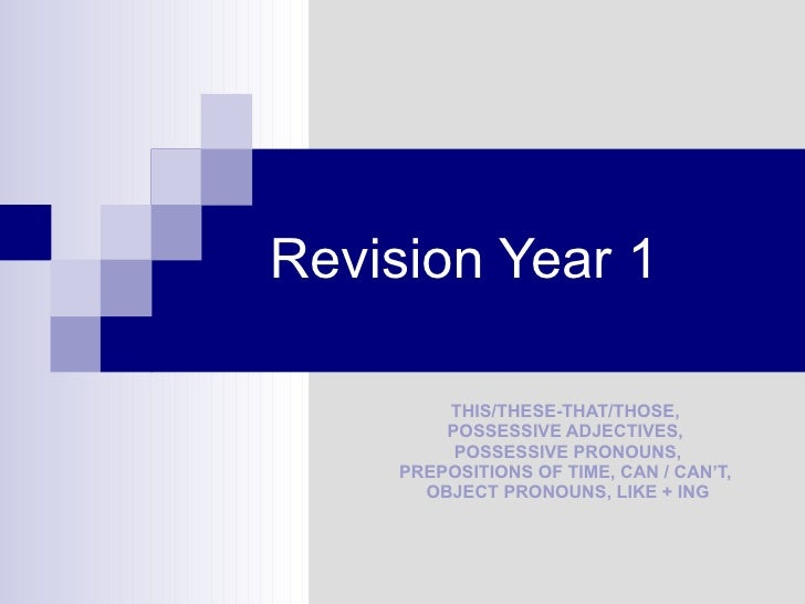 Revision Elementary Grammar
