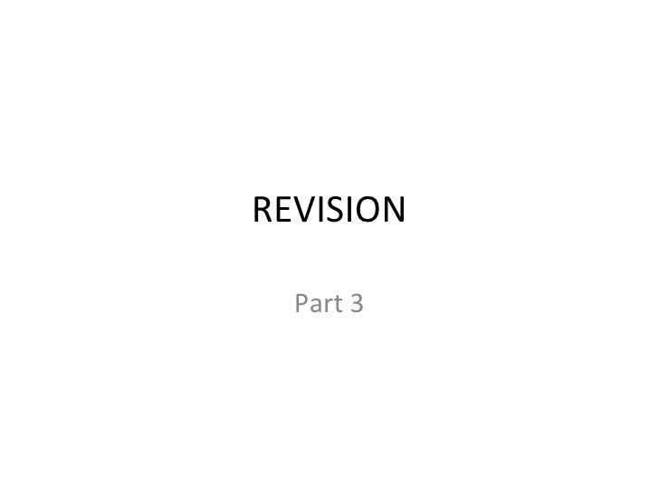 module B3 revision part 3