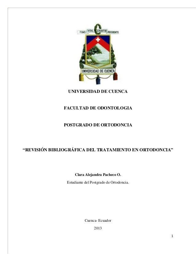 Revision bibliografica tratamiento_en_ortodoncia