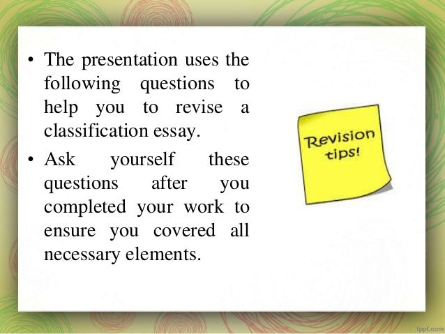 Essay revision help