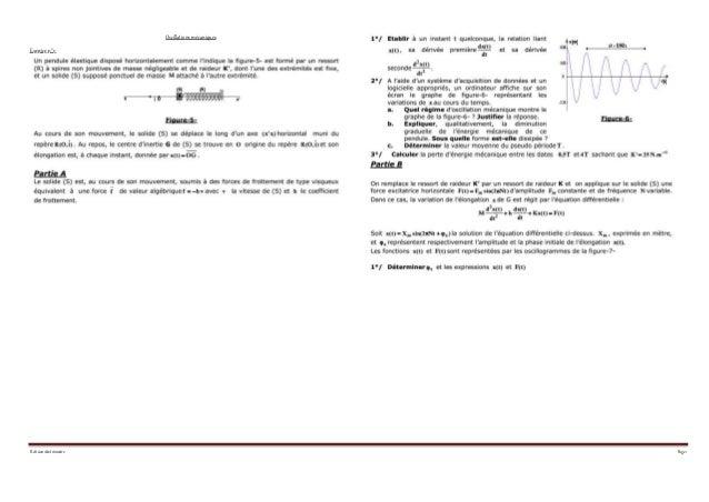 Révision1&2 trimestre Page 1 Oscillations mécaniques Exercice n°1: