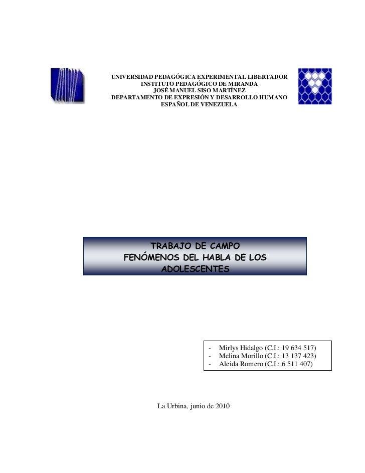 -32385-779145UNIVERSIDAD PEDAGÓGICA EXPERIMENTAL LIBERTADORINSTITUTO PEDAGÓGICO DE MIRANDAJOSÉ MANUEL SISO MARTÍNEZDEPARTA...