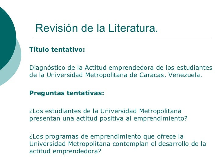 Revision literaturamcmartin