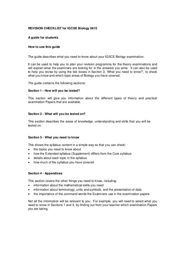 igcse chemistry revision guide essay