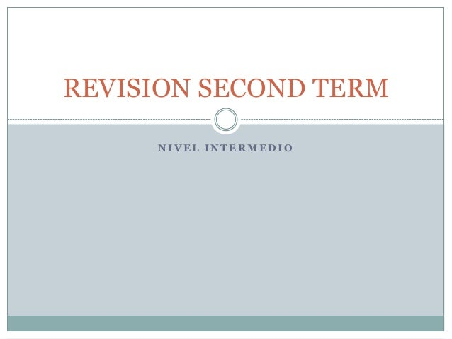 Revision second term