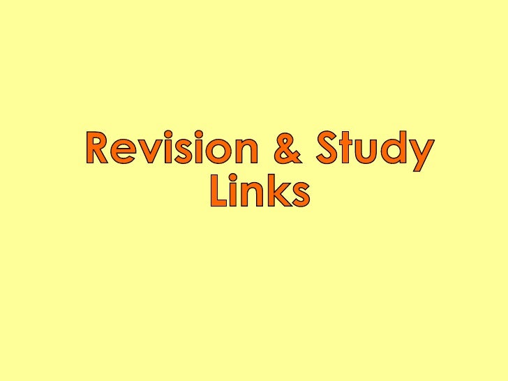 Revision & Study Links