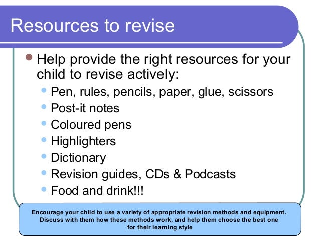 revise actively