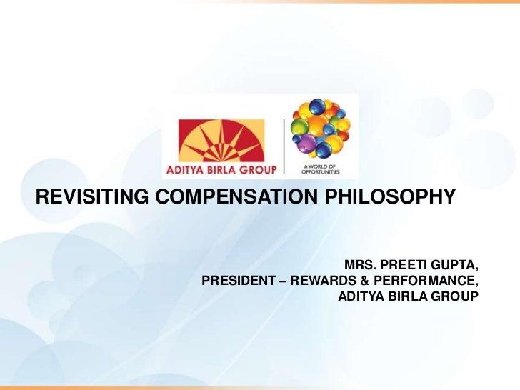Revisiting Compensation Philosophy