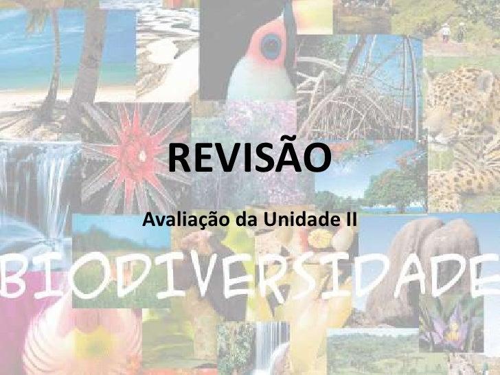 REVISÃO<br />Avaliação da Unidade II<br />