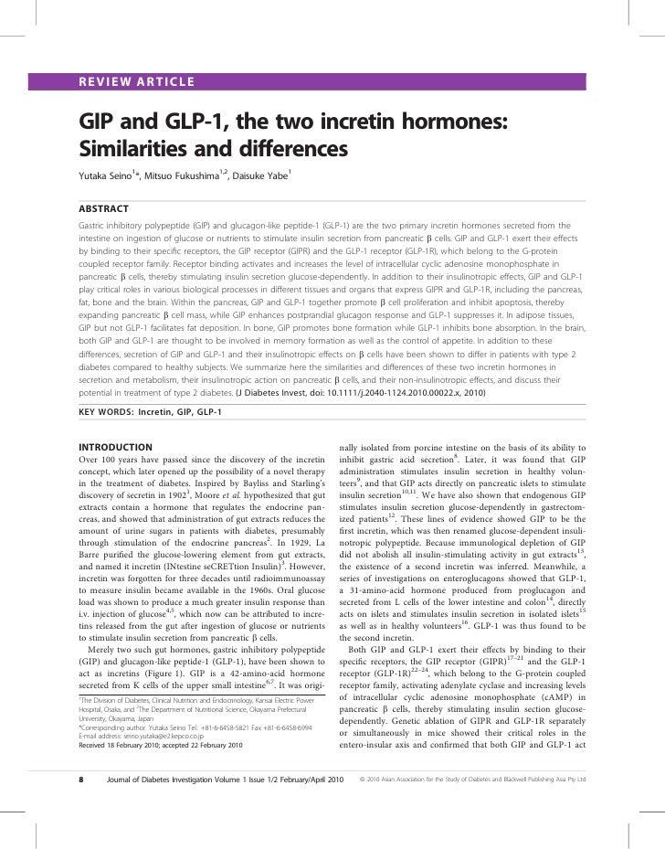 GLP 1 E GIP: DIFERENÇAS E SEMELHANÇAS