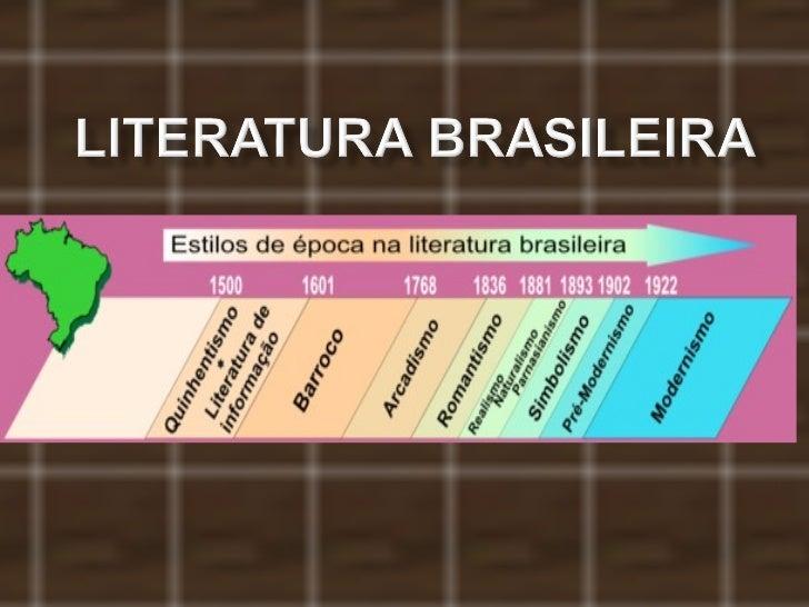 LITERATURA: ESCOLAS LITERÁRIAS