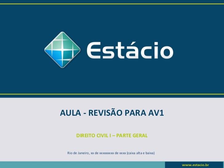 Revisão para av1 2012.1