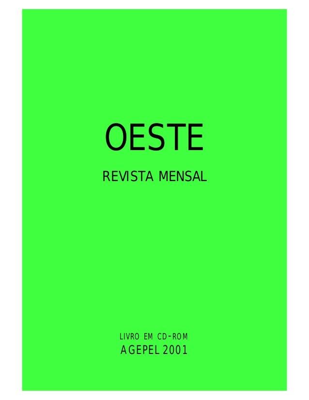 OESTE REVISTA MENSAL LIVRO EM CD-ROM AGEPEL 2001