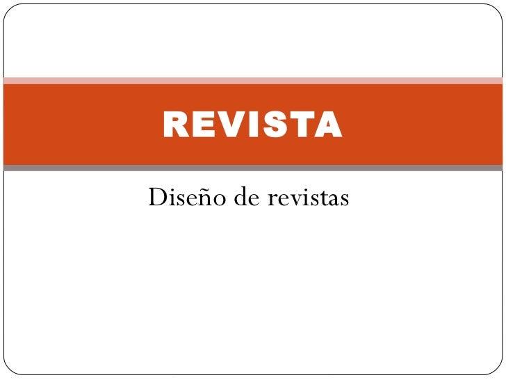 Diseño de revistas REVISTA