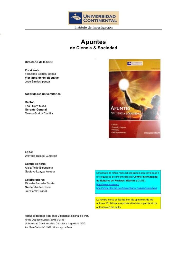 Instituto de Investigación                                                  Apuntes                                       ...