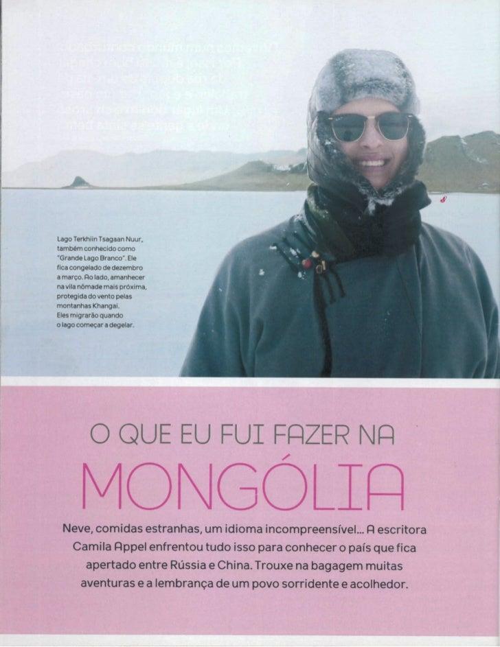 """""""O que eu fui fazer na  Mongólia"""""""
