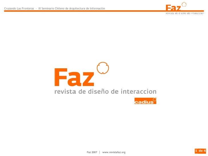 Revista Faz (Jorge Garrido)