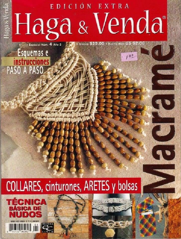 Revista   Haga Y Venda Macrame Magazine