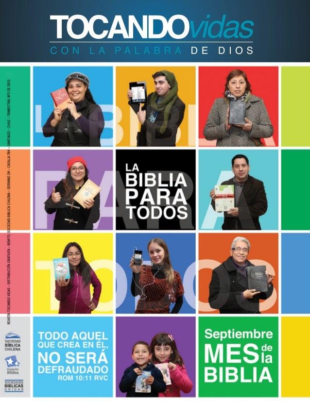 Revista Sciedad Biblica Chilena mes de la Biblia 2013