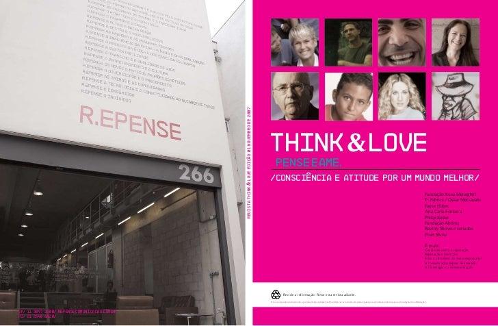 Revista Think & Love Edição 01 Novembro de 2007                                                                           ...