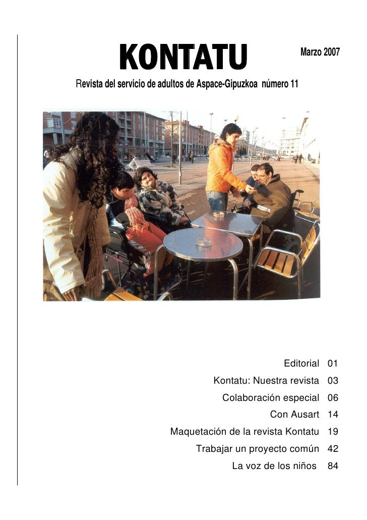 KONTATU Revista del servicio de adultos de Aspace-Gipuzkoa número 11                                                      ...