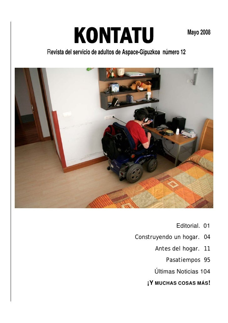 KONTATU Revista del servicio de adultos de Aspace-Gipuzkoa número 12                                                      ...