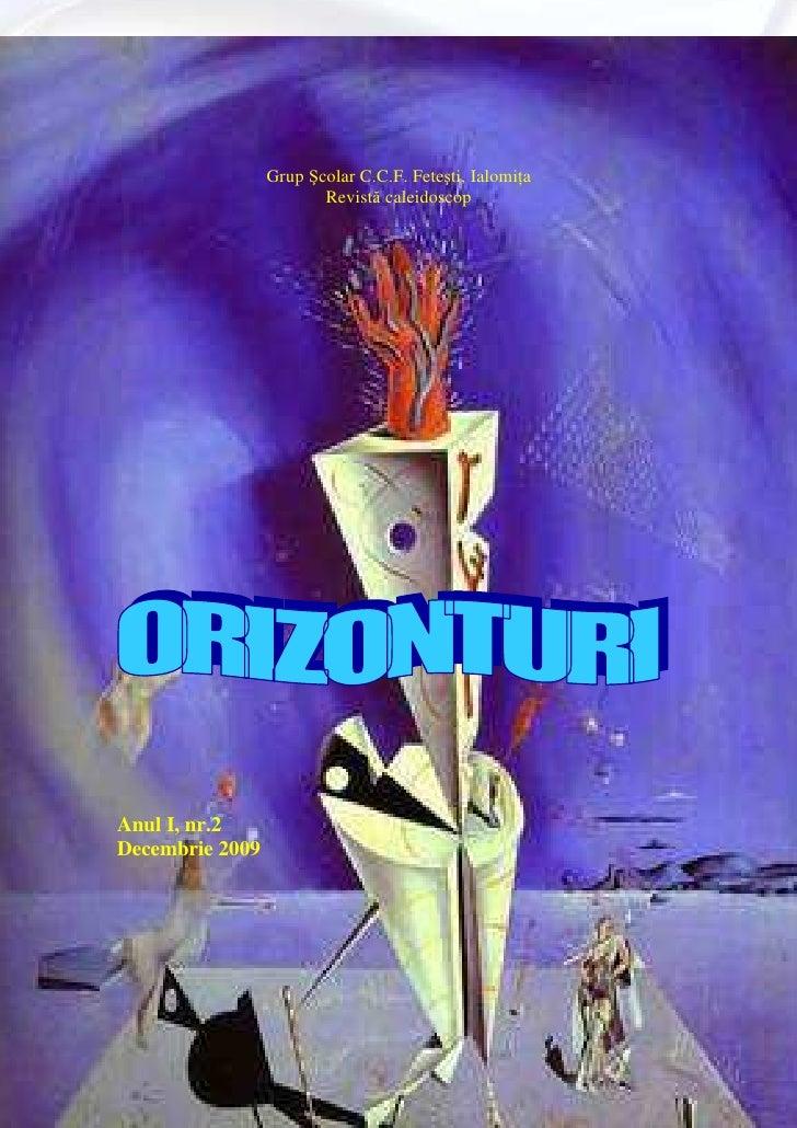 "Revista 2 -, ,Orizonturi"""