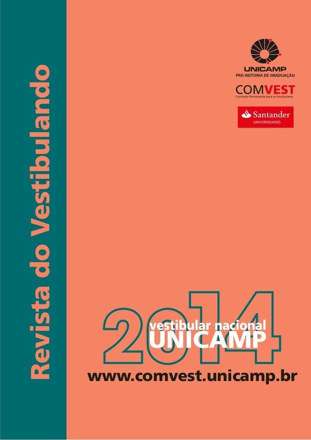 RevistadoVestibulando www.comvest.unicamp.br
