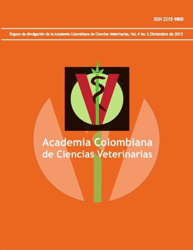 Revista Academia Colombiana de Ciencias Veterinarias 4 1 (15)