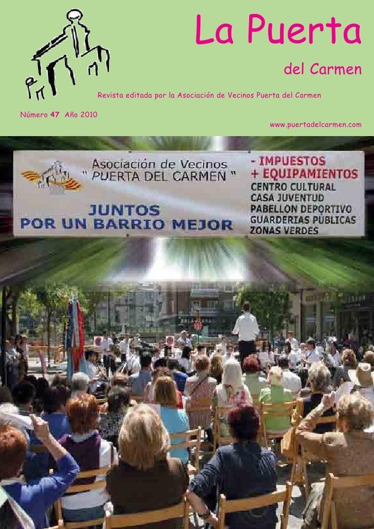 La Puerta                                                                    del Carmen                 Revista editada po...
