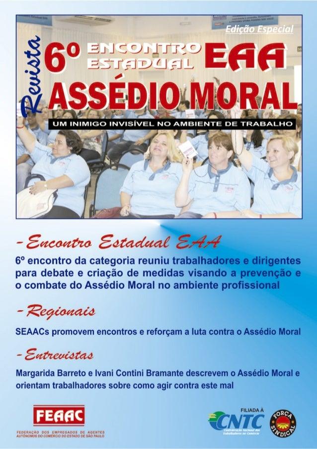 Revista 6º encontro estadual eaa   assédio moral - 122010
