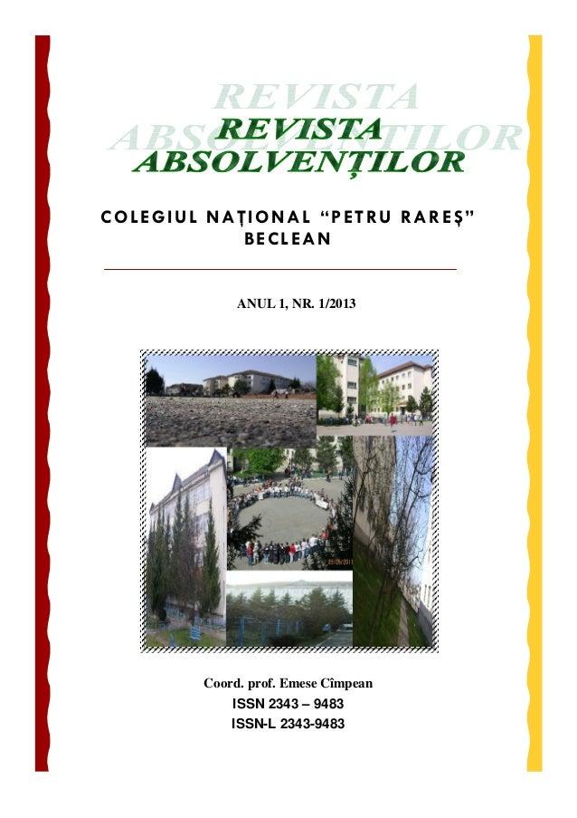 Revista absolventilor modificata in 31 mai 2013