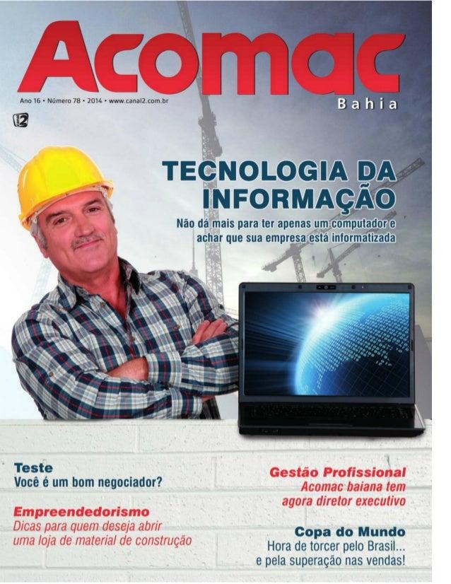 eSocial Tânia Gurgel, sua empresa esta preparada? Revista Acomac BA março 2014