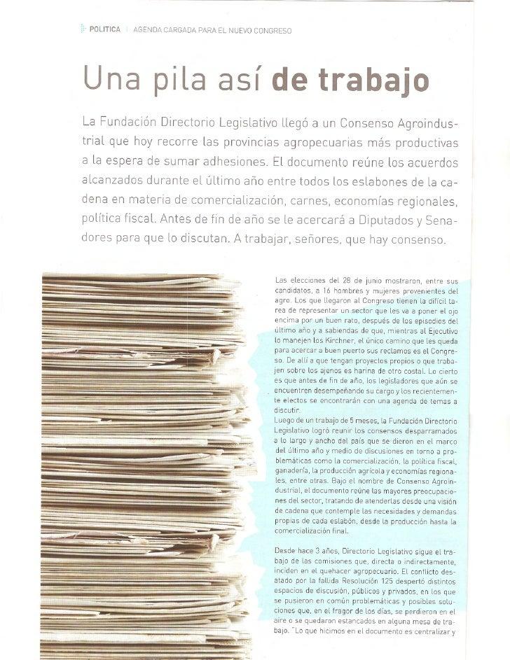 Revista Acopiadores  FederacióN De Centros Y Entidades Gremiales De Acopiadores De Cereales  AñO4  Nº12  Sep 2009