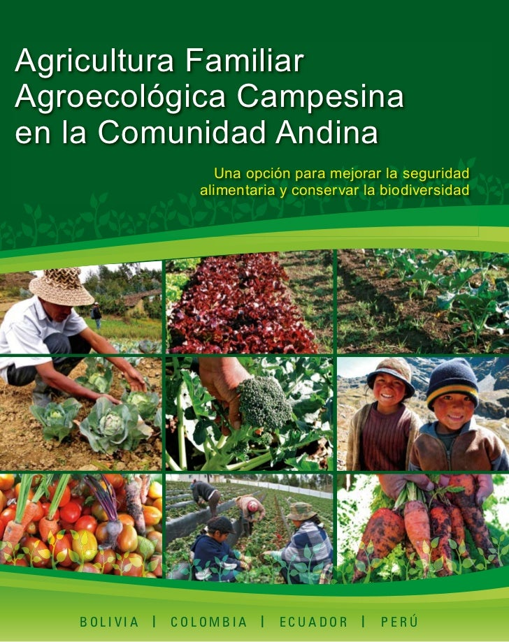 Agricultura FamiliarAgroecológica Campesinaen la Comunidad Andina                   Una opción para mejorar la seguridad  ...
