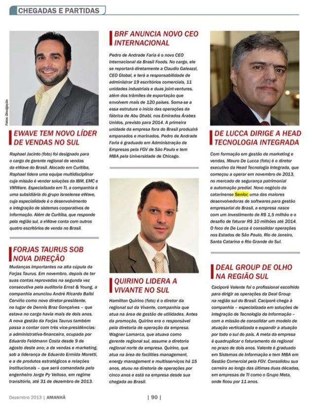 Revista Amanhã |  De Lucca dirige a Head Tecnologia Integrada