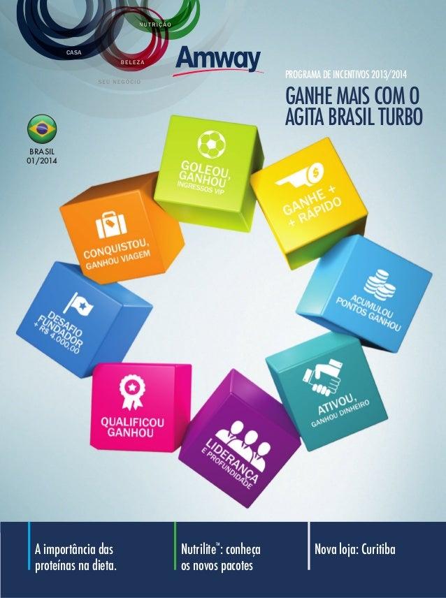 CASA  PROGRAMA DE INCENTIVOS 2013/2014  GANHE MAIS COM O AGITA BRASIL TURBO BRASIL 01/2014  A importância das proteínas na...