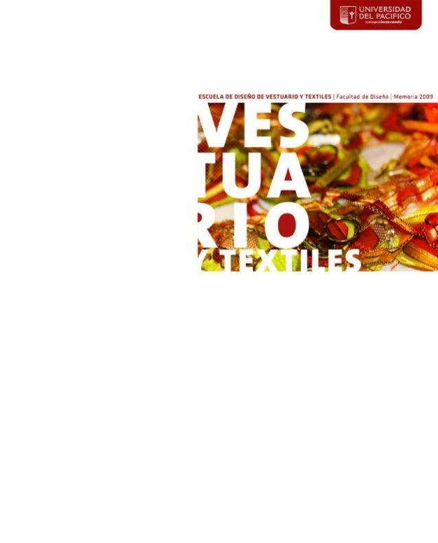 Revista Anual - Diseño de Vestuario y Textiles 2009