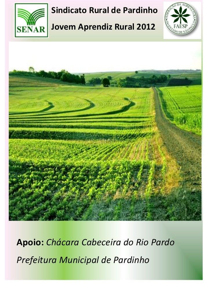 Sindicato Rural de Pardinho        Jovem Aprendiz Rural 2012Apoio: Chácara Cabeceira do Rio PardoPrefeitura Municipal de P...
