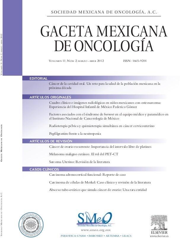 Revista cancer ovario