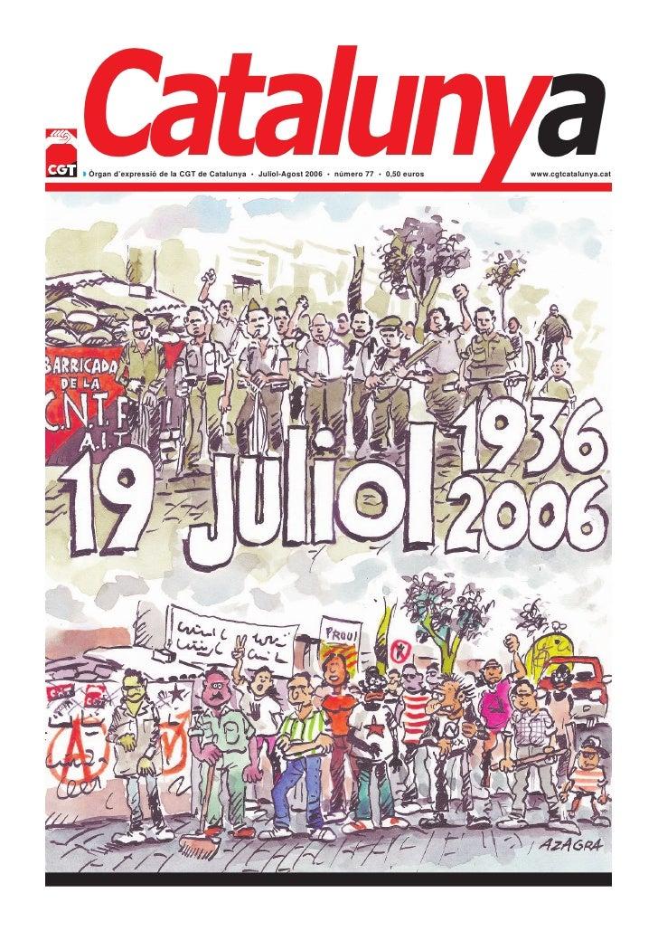 Catalunya 77 Juliol-agost 2006